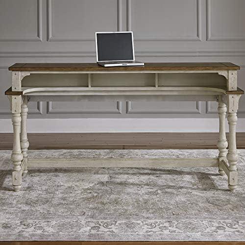 Liberty Furniture Industries Morgan Creek Console Bar Table, W77 x D21 x H36, White