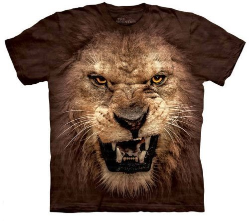 The Mountain Big Face Roaring Lion T-Shirt (2XL)