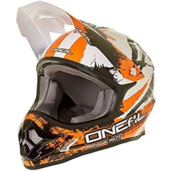 Oneal Black-Orange 2017 3Series Shocker Mx Helmet (M , Black)