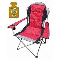 XXL Campingstuhl DELUXE bis 150 Kg belastbar - extra breit, extra bequem, extra stabil!
