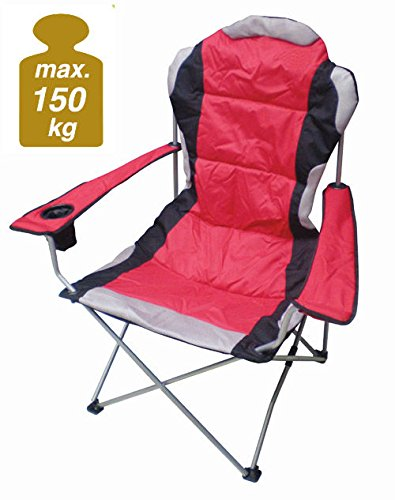 XXL deluxe camping chair, for up to 150 kg - extra wide, extra comfortable, heavy duty. Spetebo