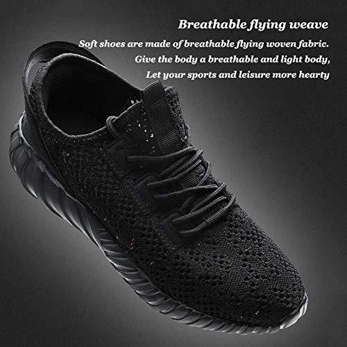 Black Uomo Sportiva Fitness Da Scarpe Athletic Maglia Leggere Ginnastica Casual Stringate Per Sneakers S4qH6xx