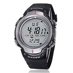 Black Strap Watch Sport Watch Ninasill Luminous Display Digital Watch