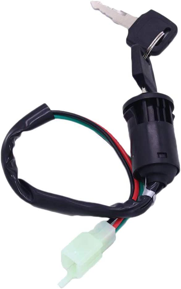 balikha Interruptor de Llave de Encendido de 4 Cables 50cc 70cc 90cc 110cc 125cc Quad Dirt