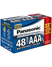 Panasonic Energy Corporation LR03XE/48PC Platinum Power Long Lasting AAA Alkaline Battery, 48 Pack