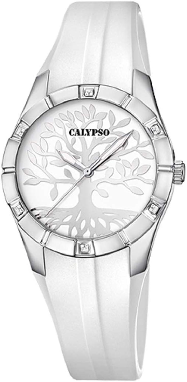 Calypso Reloj Trendy - K5716/A - Arbol de la Vida - Blanco y Plateado - 32 mm
