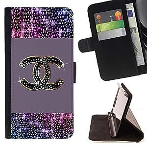 - Sparkly Gold Bling Brand Fashion - - Prima caja de la PU billetera de cuero con ranuras para tarjetas, efectivo desmontable correa para l Funny HouseFOR Samsung Galaxy S4 Mini i9190