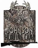 Deer Camp Deer Skull Personalized Hardboard sign from Redeye Laserworks For Sale
