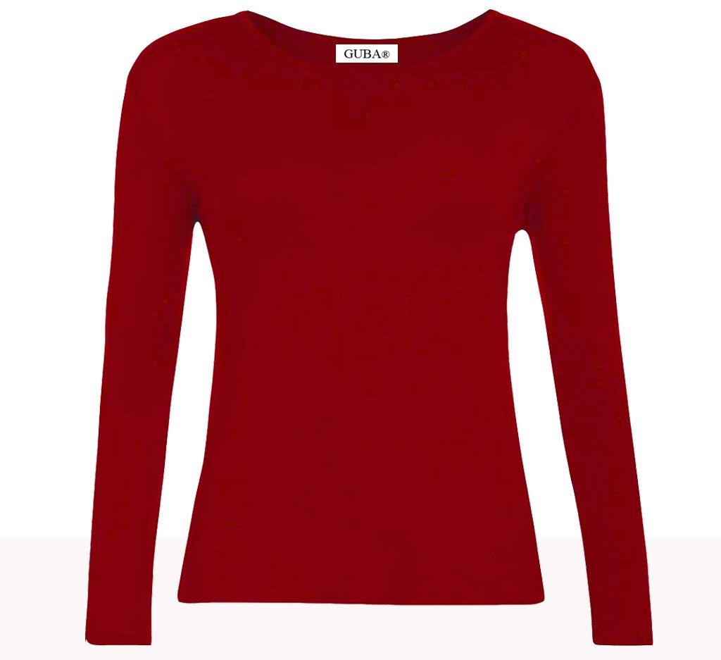 GUBA® New Girls Plain Long Sleeve Crew Neck Basic Tee Top T-Shirt Size 2-13 Years