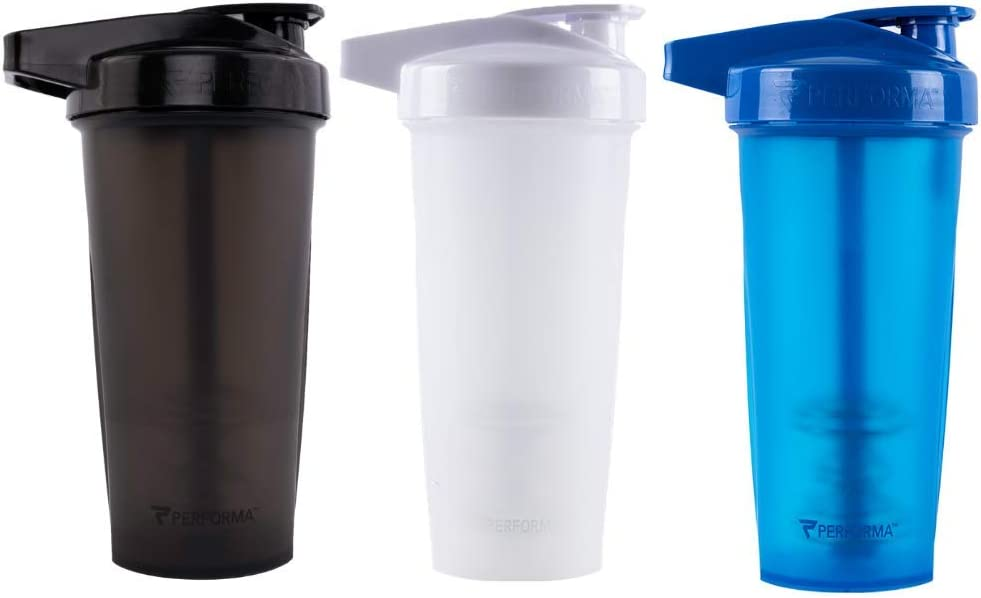 28oz Shaker Bottle Shatter Proof and Dishwasher Safe! PERFORMA ACTIV Best Leak Free Bottle with ActionRod Mixing Technology for Your Sports /& Fitness Needs Spiderman Blue//White
