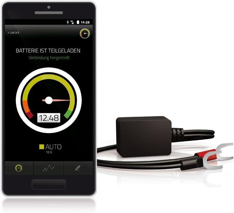 Battery Guard Einfache Überwachung der Spannung von Fahrzeug und Versorgungsbatterien, Black, 40 x 25 x 20 mm