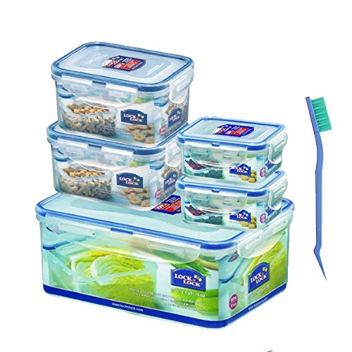 0.5 Quart Container (Lock & Lock Classic Food Container Series BPA-FREE (2.3L / 2.4QT / 78OZ 1-count) + (470 ML / 0.5 QT / 15 OZ 2-count) + (180 ML / 0.19 QT)