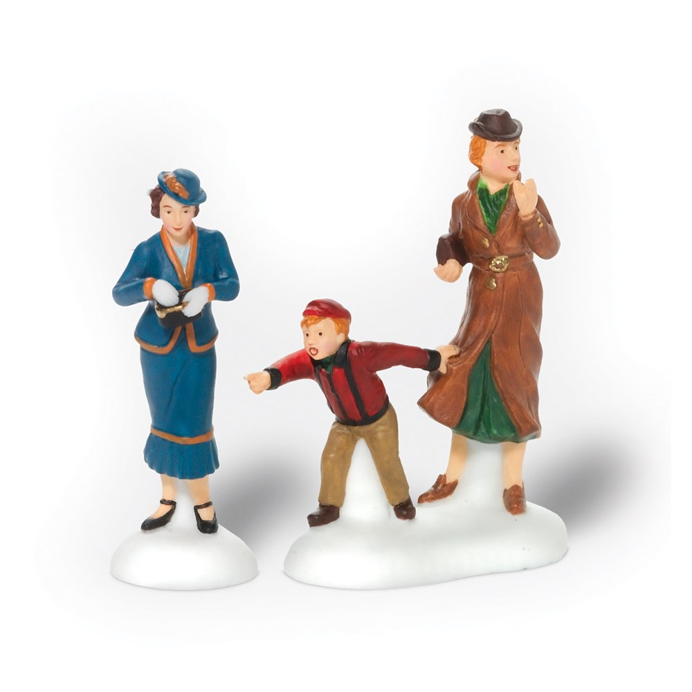 Department 56 Christmas in the City Village Window Shoppers Accessory Figurine (Set of 2)