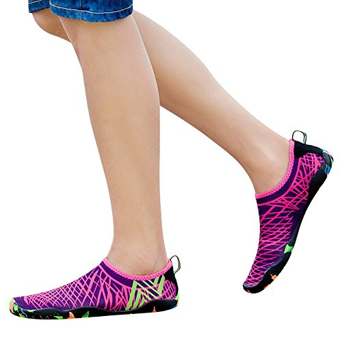Leopard Print High Top - Clearance Sale Shoes,Farjing Unisex Outdoor Sport Shoes Diving Shoes Swimming Shoes Yoga Shoes Creek Shoes(US:7.5,Hot Pink)
