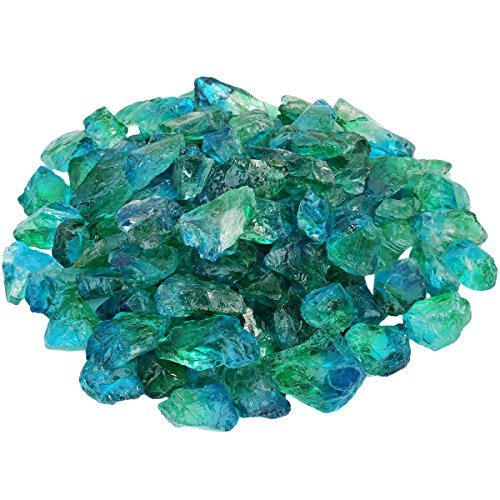 rockcloud 1/2 lb Natural Titanium Coated Crystals for Wire Wrapping,Jewelry Making,Wicca and Reiki Crystal Healing, Blue & Green
