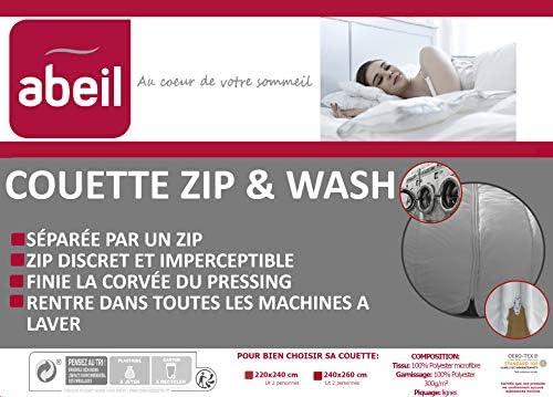 Abeil Couette Zip & Wash tempérée 240 x 260 cm