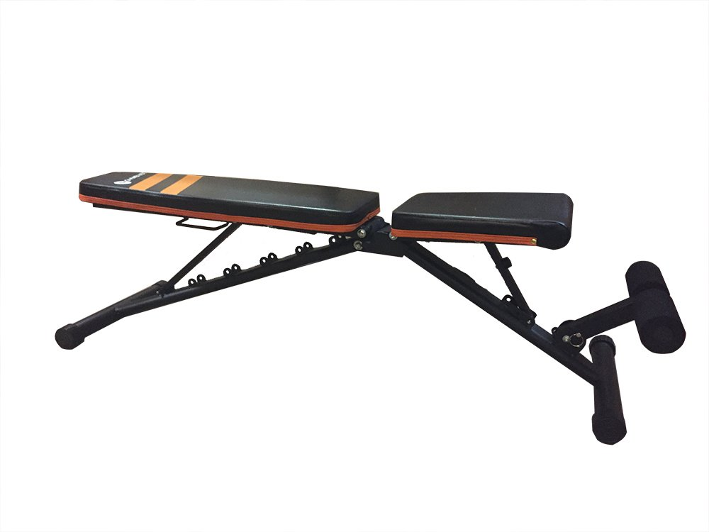 Gymenist Exercise Bench Foldable and Easy To Carry NO ASSEMBLY NEEDED