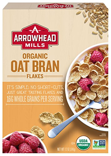 (Arrowhead Mills Organic Cereal, Oat Bran Flakes, 12 oz. Box (Pack of 12))