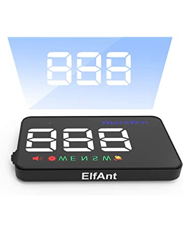 ElfAnt Universal Car Dash Board Head up Speedometers Digital Display GPS Dual Display Mode