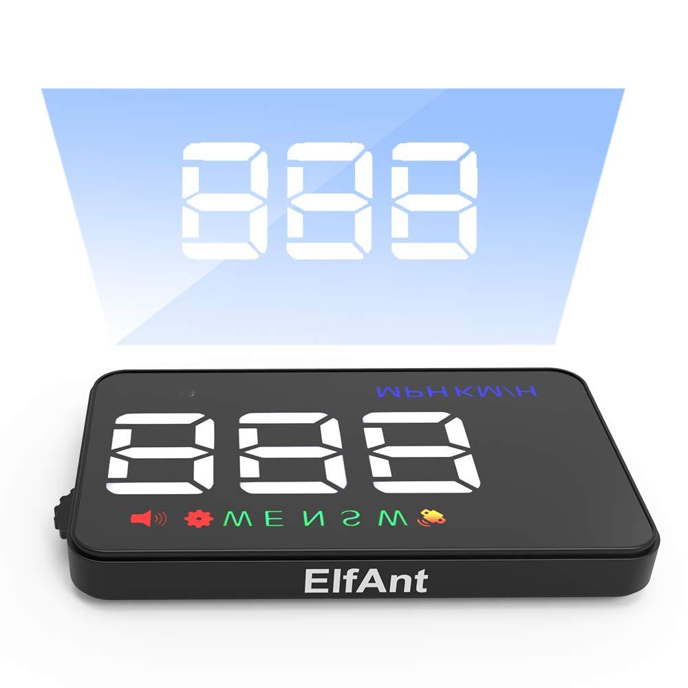 ElfAnt Universal Car Dash Board Head up Speedometers Digital Display (GPS)