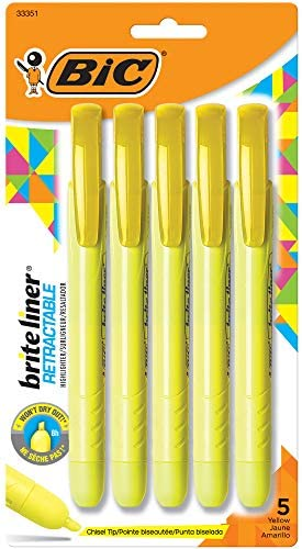 BIC Retractable Highlighter Chisel 30 Count