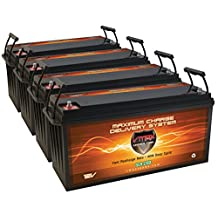 QTY4 VMAX SLR175 AGM deep cycle SLA battery 12V 175Ah ea. (700AH total) solar batteries for Use with PV Solar Panel wind turbine gas or electric power backup generator or smart charger for off grid sump pump lift winch pallet jack and any other heavy duty application