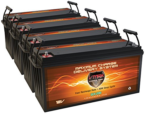 VMaxtanks SLR175 AGM 175Ah EA 700AH TOTAL Solar Wind Power Backup AGM 12V VMAX Battery