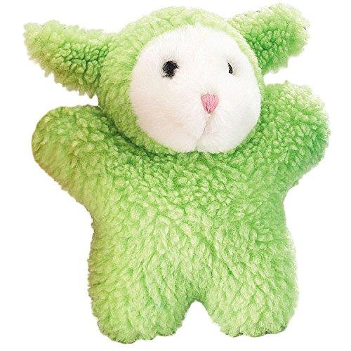 Zanies Cuddly Berber Baby Lamb Dog Toys, Green