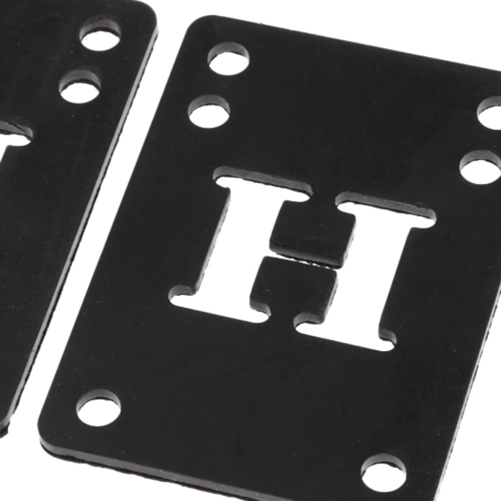 Baoblaze 2X Tapis de Skateboard Pad en Caoutchouc Longboard Riser Pad Shock Pads 3mm