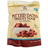 Royal Palm Deglet Noor Dates Pitted (28 oz), All Natural, Certified Vegan, Gluten Free, NON-GMO Verified, Kosher