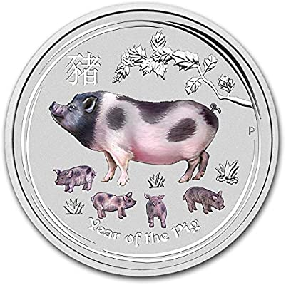 2019 Australian 1//2 oz Silver Coin Year of The Pig Colorized