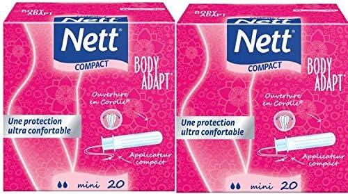 Nett - Body adapt, mini tampones con aplicador compacto, 2 cajas ...