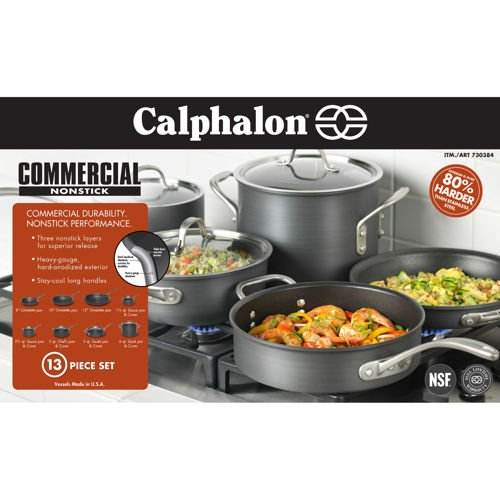 Calphalon 13-pc Hard Anodized Cookware Set