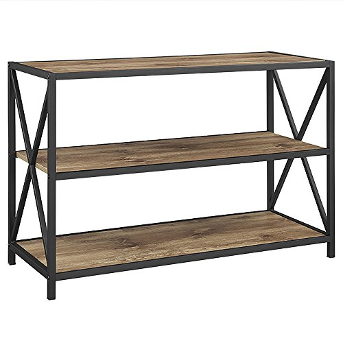 (WE Furniture AZS40XMWBW Bookshelf, 40
