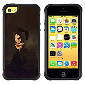 Suave TPU GEL Carcasa Funda Silicona Blando Estuche Caso de protección (para) Apple Iphone 5C / CECELL Phone case / / Portrait Painting Art Face Self Reflection /