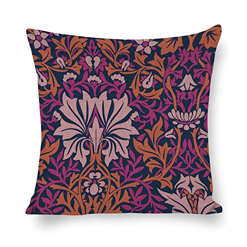 Welkoom Sofa Pillow Cases Pillowcase for Men Symmetry Psychedelic Art Line Magenta Purple Pink Cotton Linen Decorative Cushion -