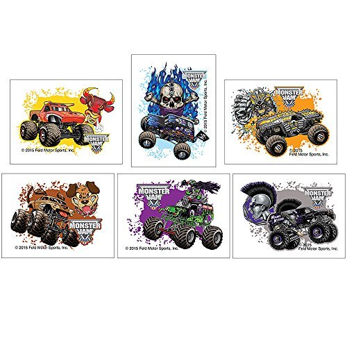 SmileMakers Monster Jam Temporary Tattoos - Prizes 144 per Pack ()