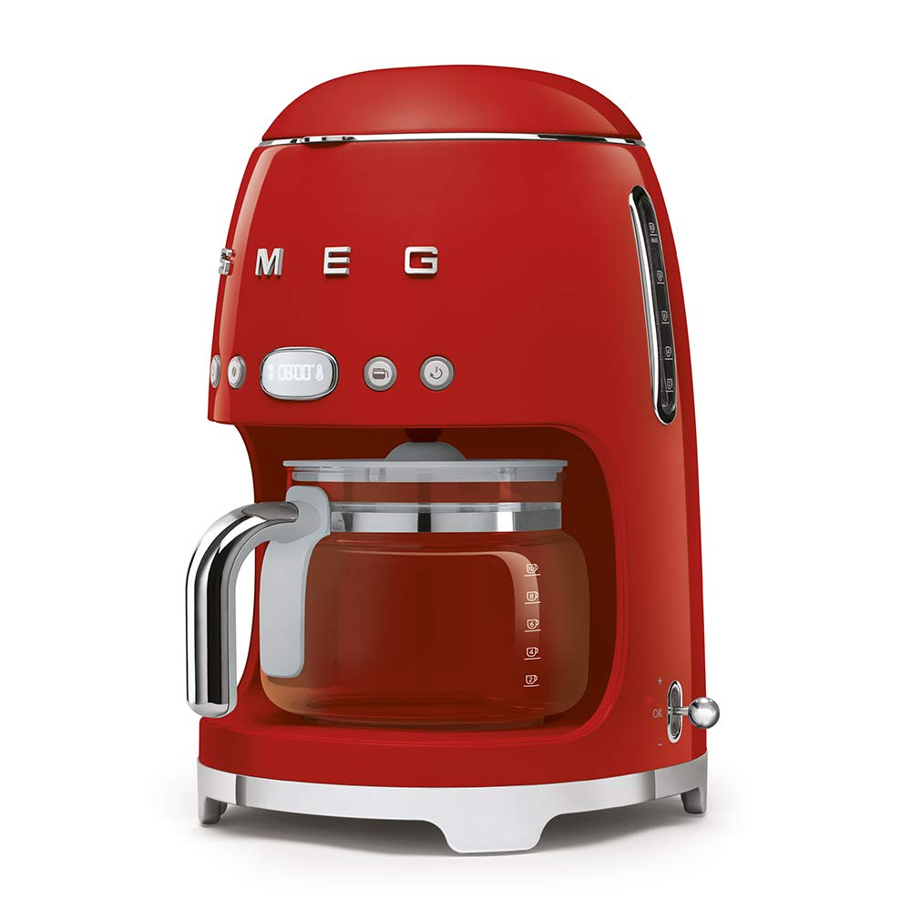 Smeg DCF01RDEU Independiente Semi-automática Máquina espresso 1.4L 10tazas Rojo - Cafetera (Independiente, Máquina espresso, 1,4 L, 1050 W, ...