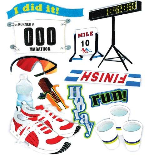 Jolee's Boutique Dimensional Stickers, Marathon Runner