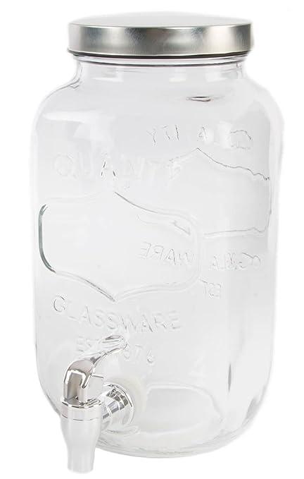 Dcasa - Dispensador de Bebidas Cristal Vintage para 3,5 litros