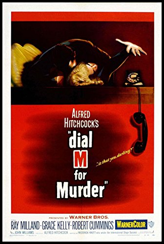 Dial M for Murder Fridge Magnet 3.5 x 5 Alfred Hitchcock Movie Poster Magnetic Canvas (Dial Canvas)