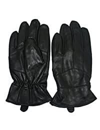 INES Lambskin Leather Winter Warm Men Gloves for Motorcycle Cycling Riding (L)