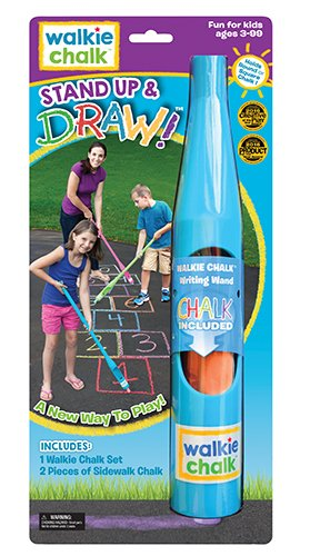 Walkie Chalk Stand-Up Sidewalk Chalk Holder - Teal - Creative Outdoor Toy for Kids and Adults! -