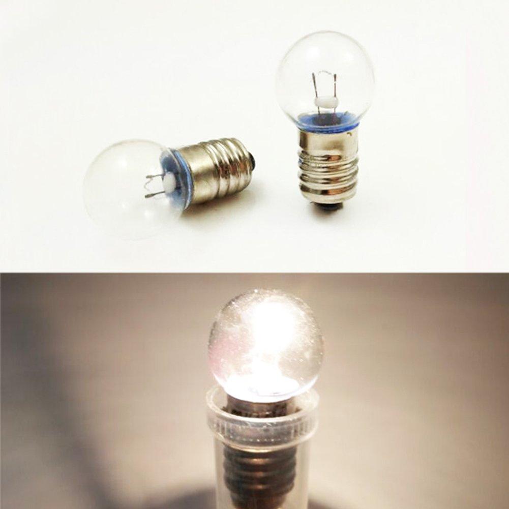 Heshaoc E10 4.8V 0.5A G15x27 MES Miniature Screw Base Light Bulb Lamp Flashlight Torch Work Light
