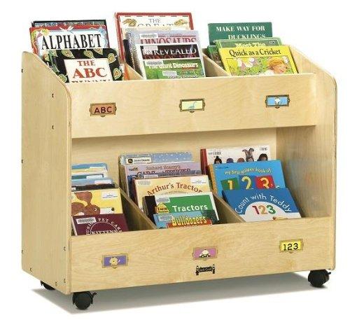 Jonti-Craft 5368JC Mobile 6-Section Book Organizer