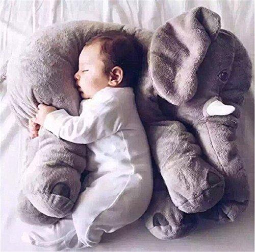 Gefülltes Elefanten-Plüschkissen Kissen Plüsch Spielzeug grau