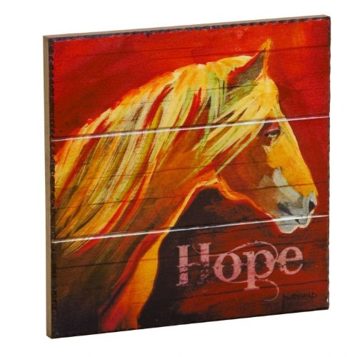 """""""Hope"""" Horse Wall Plaque, 8x8 inches by Diane Whitehead"""