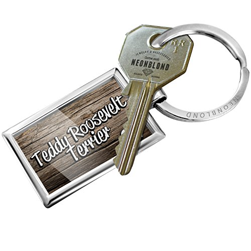 NEONBLOND Keychain Teddy Roosevelt Terrier, Dog Breed United States