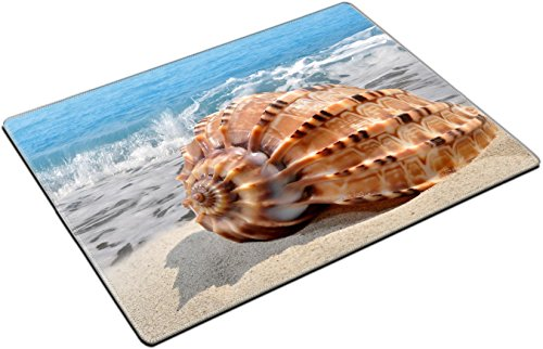 Offering Conch Shell (MSD Place Mat Non-Slip Natural Rubber Desk Pads design: 13233781 Conch shell on beach)