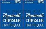 STEP-BY-STEP 1972 CHRYSLER & IMPERIAL BODY REPAIR SHOP & SERVICE MANUAL INCUDES: Imperial Le Baron, New Yorker, New Yorker Brougham, Town & Country, Newport Custom, and Newport Royal. 72